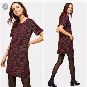 Ann Taylor LOFT Tweed Pocket Shift Dress